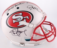 Steve Young, Jerry Rice & Joe Montana Signed 49ers Full-Size Authentic On-Field Helmet (JSA COA)