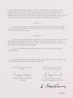Mikhail Gorbachev Signed 1987 Nuclear Disarmament Treaty Page (JSA LOA)