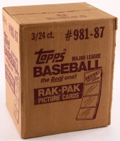 1987 Topps Baseball Rack Pack Case - Factory Sealed