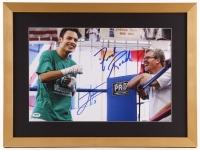 Julio Cesar Chavez & Freddie Roach Signed 18x24 Custom Framed Photo (PSA COA)