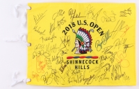 2018 U.S. Open Shinnecock Hills Pin Flag Signed by (30+) with Jordan Spieth, Phil Mickelson, Rickie Fowler, Jason Day (JSA ALOA)