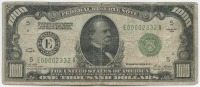 1928 $1000 One Thousand Dollars Federal Reserve Note