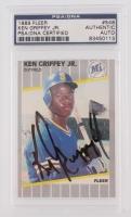 Ken Griffey Jr. Signed 1989 Fleer #548 RC (PSA Encapsulated)