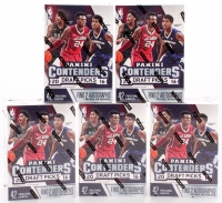 Lot of (5) Factory Sealed 2016-17 Panini Contenders Draft Picks Basketball Blaster Boxes