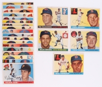 Lot of (23) 1955 Topps Baseball Cards with #120 Ted Kluszewski, #200 Jackie Jensen, #154 Willie Miranda, #151 Ralph Kress CO, #207 Billy Consolo