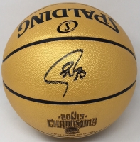 Stephen Curry Signed Golden State Warriors 2015 NBA Champions Basketball (Fanatics Hologram) at PristineAuction.com