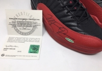 Michael Jordan Signed Original 1997 Nike Air Jordan 12 Flu Basketball Shoes (UDA COA) at PristineAuction.com