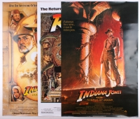 "Lot of (3) Indiana Jones 27x40 Movie Posters with ""Raiders of the Lost Ark"", ""Temple of Doom"" & ""Last Crusade"" at PristineAuction.com"