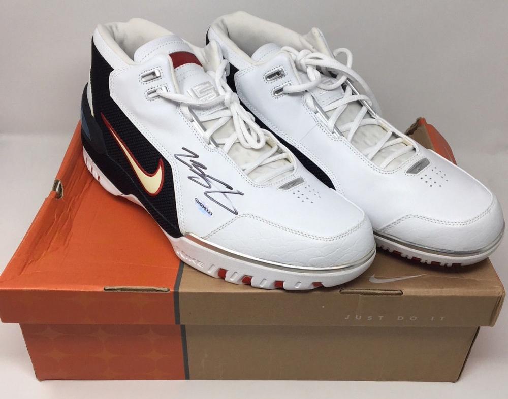 online store 75ae8 a1b6c LeBron James Signed Original Air Zoom Generation Basketball Shoes (UDA COA)