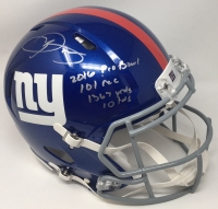 "Odell Beckham Jr. Signed New York Giants LE Full-Size Authentic On-Field Speed Helmet Inscribed ""2016 Pro Bowl"", ""101 rec"", ""1367 yrds"" & ""10 tds"" (Steiner COA) at PristineAuction.com"