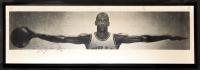 "Michael Jordan Signed ""Wings"" 23x72 Custom Framed Poster Display (UDA COA)"