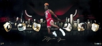 "Michael Jordan Signed Chicago Bulls ""City Of Rings"" LE 15x30 Photo (UDA COA) at PristineAuction.com"