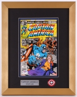 "Stan Lee Signed ""Captain America"" Issue #232 13.5x17 Custom Framed Comic Book Display (PSA COA)"