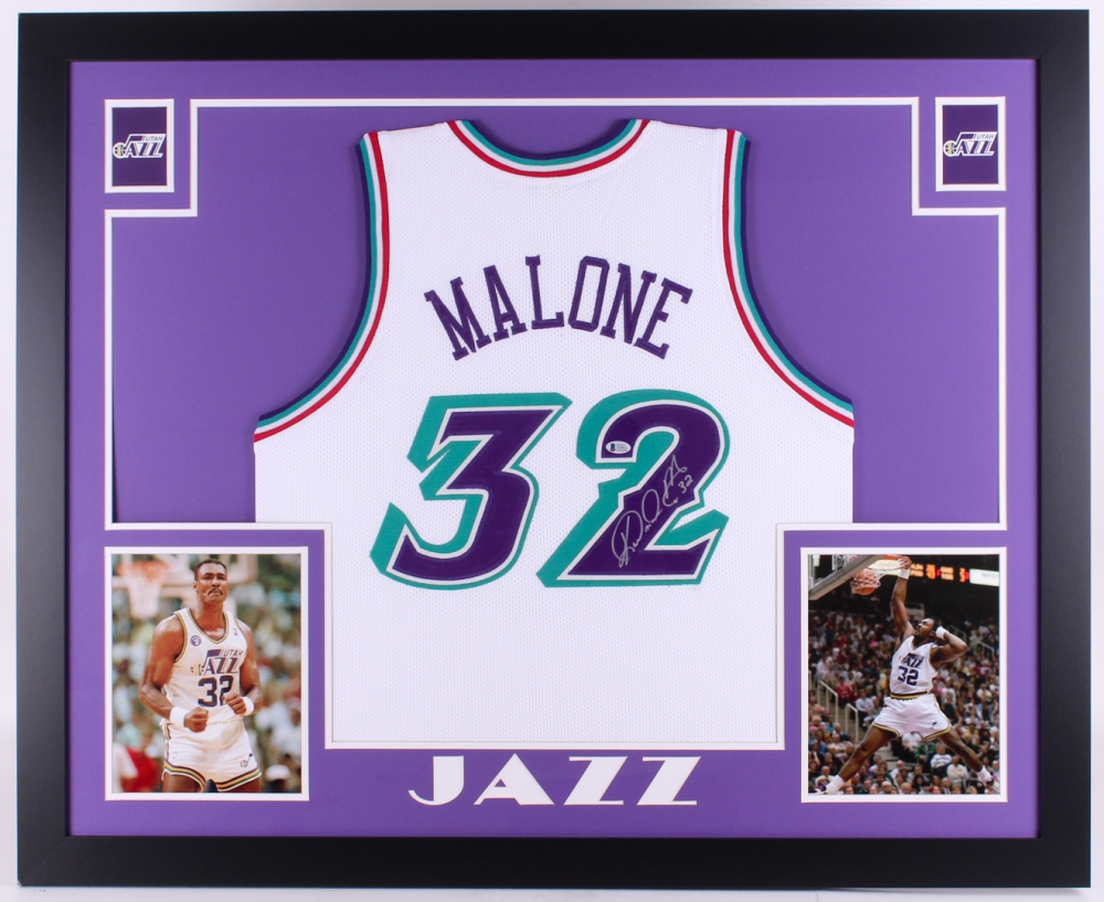 Karl Malone Signed Jazz 35x43 Custom Framed Jersey (Beckett COA) at  PristineAuction.com 4d3c6c38e