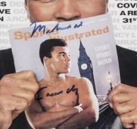 Muhammad Ali Signed 38x50 Custom Framed Boxing Robe, Sports Illustrated Magazine & Boxing Glove Shadowbox Display (Beckett LOA, Steiner COA & Online Authentics Hologram) at PristineAuction.com