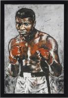 Muhammad Ali Signed 34x48 Custom Framed Canvas #104/135 (JSA LOA)
