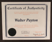 "Walter Payton Signed Bears 35x43 Custom Framed Jersey Inscribed ""Sweetness"", ""MVP 1977"", ""HOF 1993"", ""Super Bowl XX"" & ""16,726"" (Payton COA) at PristineAuction.com"