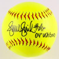 "Jennie Finch Signed Softball Inscribed ""04' USA Gold"" (JSA COA)"
