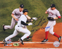 """Bronson Arroyo Signed Red Sox 8x10 Photo of Infamous 2004 ALCS Play Tagging out Alex Rodriguez Inscribed """"04' WS Champs"""" (MAB Hologram)"""