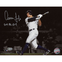 "Aaron Judge Signed New York Yankees 16x20 Photo Inscribed ""2017 AL ROY"" (Fanatics Hologram) at PristineAuction.com"