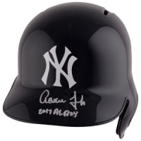 "Aaron Judge Signed New York Yankees Full-Size Batting Helmet Inscribed ""2017 AL ROY"" (Fanatics Hologram) at PristineAuction.com"