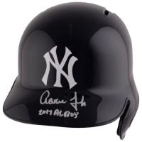 "Aaron Judge Signed Yankees Full-Size Batting Helmet Inscribed ""2017 AL ROY"" (Fanatics Hologram) at PristineAuction.com"
