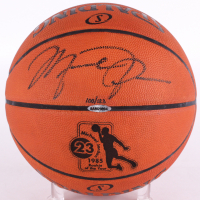 Michael Jordan Signed 1985 ROY Limited Edition Custom Engraved Official NBA Game Ball (UDA COA)