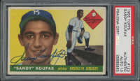 Sandy Koufax Signed 1955 Topps #123 RC (Autograph Graded 10)