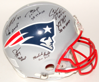 Patriots Super Bowl XLIX Limited Edition Full-Size Authentic Pro-Line Helmet Signed by (6) with Tom Brady, Rob Gronkowski, Darrelle Revis with Inscriptions (TriStar & Fanatics)