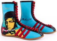 Muhammad Ali Signed Pair of (2) Limited Edition Adidas Andy Warhol Boxing Boots (JSA LOA)