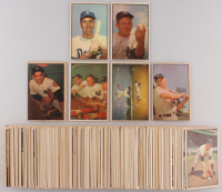 Complete Set of (160) 1953 Bowman Color Baseball Cards with #59 Mickey Mantle,#33 Pee Wee Reese, #44 Yogi Berra / Hank Bauer / Mickey Mantle, #121 Yogi Berra, #153 Whitey Ford, #117 Duke Snider