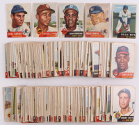 1953 Topps Complete Set of (274) Baseball Cards with #82 Mickey Mantle, #244 Willie Mays, #1 Jackie Robinson, #220 Satchel Paige, #104 Yogi Berra