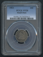 1821 10¢ Capped Bust Dime - Small Date (PCGS VF 20)