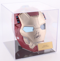 "Stan Lee Signed ""Iron Man"" Mask with Display Case (PSA COA)"