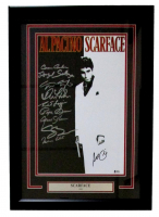 """Scarface"" 17x24 Custom Framed Movie Poster Display Signed by (10) with Al Pacino, Steve Bauer, Miriam Colon, Pepe Serna, Geno Silva (Beckett LOA)"