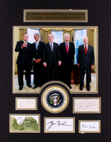 Presidents of the United State of America 19x24 Custom Matted Signatured Cut Display Signed by (5) with Jimmy Carter, George H. W. Bush, Bill Clinton, George W. Bush & Barack Obama (JSA ALOA)