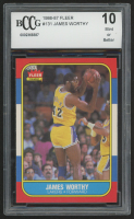 1986-87 Fleer #131 James Worthy RC (BCCG 10) at PristineAuction.com