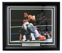 "Bret ""Hitman"" Hart SIgned WWE 22x27 Custom Framed Photo Display Inscribed ""Ironman Match '96"" (JSA COA)"