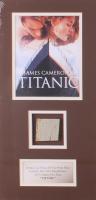 """Titanic"" 9.5x19 Custom Matted Movie Prop Ship Piece Display"