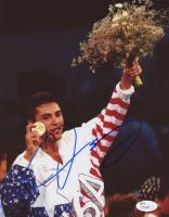 Oscar De La Hoya Signed Olympics 8x10 Photo (JSA COA)