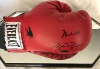 Muhammad Ali & Michael Jordan Signed Everlast Boxing Glove with High Quality Display Case (JSA LOA & UDA COA)