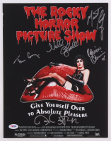 The Rocky Horror Picture Show 11x14 Photo Signed by (5) with Tim Curry, Meat Loaf, Barry Bostwick, Patrick Quinn (PSA LOA)