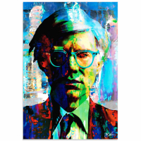 """""""Andy Warhol 4 Wise Men"""" 22x32 Contemporary American Icon Pop Art, Ltd. Ed. Giclee on Glossy Acrylic by Mark Lewis at PristineAuction.com"""