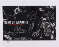 Sons Of Anarchy 11x14 Photo Cast-Signed by (7) with Katey Sagal, Kristen Renton, Emilio Rivera, Kim Coats with Inscriptions (PSA LOA)