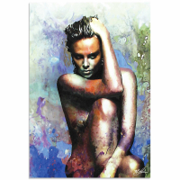 """""""Charlize Theron Blue Daze 2"""" 22x32 Contemporary Celebrity Pop Art, Ltd. Ed. Giclee on Metal by Mark Lewis at PristineAuction.com"""