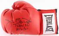 "James Buster Douglas Signed Everlast Boxing Glove Inscribed ""Tyson KO 2/11/90"" (JSA COA)"