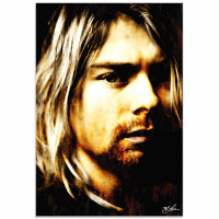 """Kurt Cobain As Darkness Fell"" 22x32 Contemporary Rock Star Pop Art, Ltd. Ed. Giclee on Glossy Acrylic by Mark Lewis at PristineAuction.com"