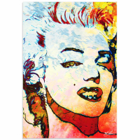 """""""Marilyn Monroe Red"""" 22x32 Contemporary Hollywood Pop Art, Ltd. Ed. Giclee on Glossy Acrylic by Mark Lewis at PristineAuction.com"""