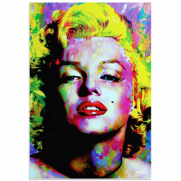 """""""Marilyn Monroe Relinquished Beauty"""" 22x32 Contemporary Hollywood Pop Art, Ltd. Ed. Giclee on Glossy Acrylic by Mark Lewis"""