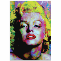 """""""Marilyn Monroe Relinquished Beauty"""" 22x32 LE Contemporary Pop Art Giclee on Aluminum by Mark Lewis"""